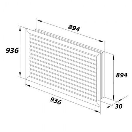 Rámeček Swing L, jednonásobný ABB, 3901J-A00010 C1