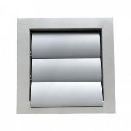 Kovová větrací mřížka se samotížnou žaluzií 200 x 200 mm, šedá