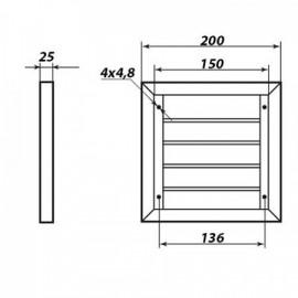 Kryt stmívače Swing s otočným ovládáním ABB, 3294G-A00125 D1