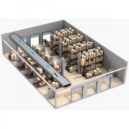 Koleno PVC 90° pro čtyřhranné potrubí vertikální 204 x 60 mm