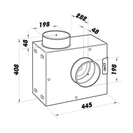 Revizní dvířka kovová DM 200x250 zavírání magnety