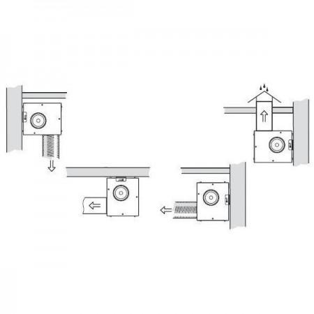 Revizní dvířka kovová DM 250x350 zavírání magnety