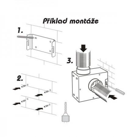 Revizní dvířka kovová DM 300x400 zavírání magnety