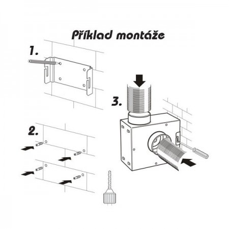 Revizní dvířka kovová DM 500x800 zavírání magnety