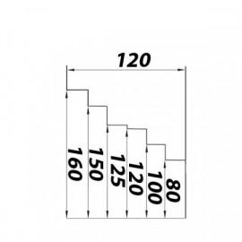 Redukce vyosená pro kruhové potrubí 80/100/120/125/150/160mm