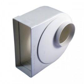 Redukce 90° z Ø100mm na čtyřhranné 220X90mm - otočná