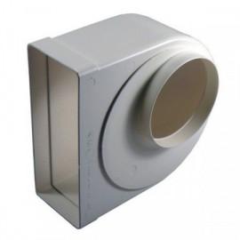 Redukce 90° z Ø125mm na čtyřhranné 220X90mm - otočná