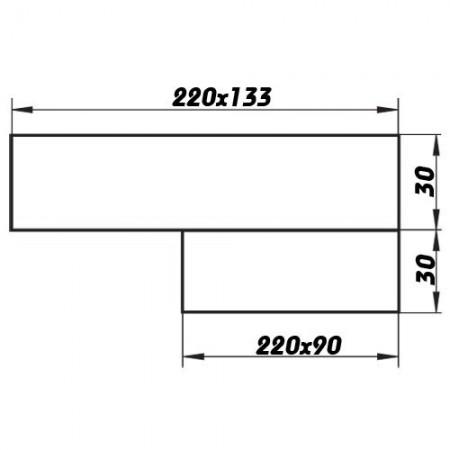 Větrací mřížka kovová  bez příruby 125 x 125 mm MVM125s bílá