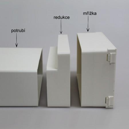 Větrací mřížka kovová  bez příruby 150 x 150 mm MVM150s bílá