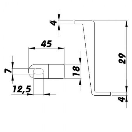 Větrací mřížka kovová  bez příruby 200 x 200 mm MVM200s pozink