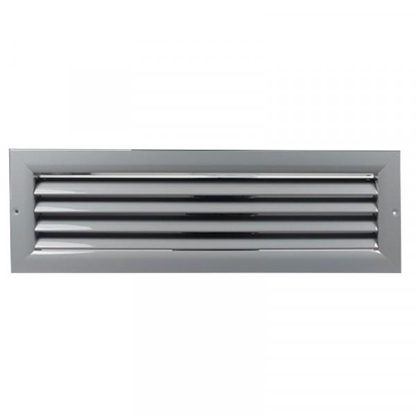 Větrací mřížka z vysoce kvalitního extrudovaného hliníku - 250x100 mm, šedá