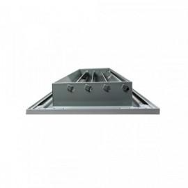 Větrací mřížka z vysoce kvalitního extrudovaného hliníku - 300x150 mm, šedá