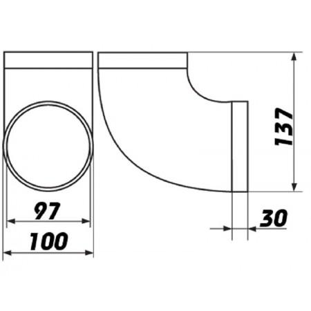 Větrací mřížka se žaluzií 299x221mm MV160 J
