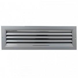 Větrací mřížka z vysoce kvalitního extrudovaného hliníku - 400x100 mm, šedá