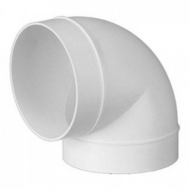 Koleno PVC 90° pro kruhové potrubí Ø 100 mm