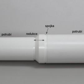Vzduchotechnické potrubí kruhové plastové Ø100mm/0,5m