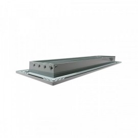Větrací mřížka z vysoce kvalitního extrudovaného hliníku - 500x200 mm, šedá
