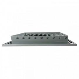 Větrací mřížka z vysoce kvalitního extrudovaného hliníku - 600x300 mm, šedá