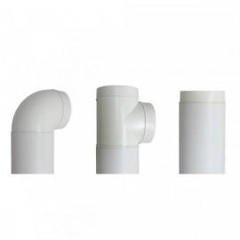 Vzduchotechnické potrubí kruhové plastové Ø100mm/1m