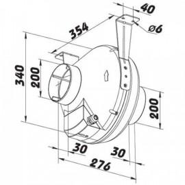 Ventilátor s teplotním čidlem DALAP Turbine P 200 T
