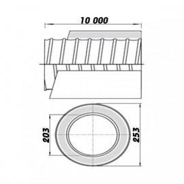 Ohebné ventilační potrubí izolované 200/10m