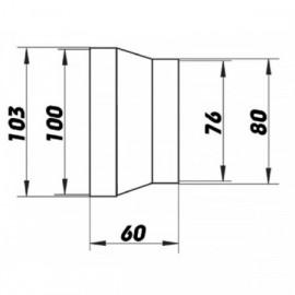 Redukce pro kruhové potrubí Ø  80/100 mm