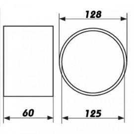 Vnější spojka pro spojení PVC tvarovek Ø125mm