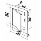Revizní dvířka kovová DM 400x400 zavírání magnety