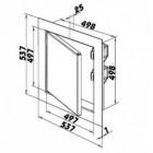 Revizní dvířka kovová DM 500x500 zavírání magnety