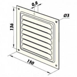 Talířový ventil-anemostat přívodní kov 125 AM125PFR