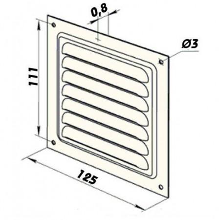 Talířový ventil-anemostat přívodní kov 200 AM200PFR
