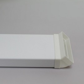 Čtyřhranné potrubí plastové 204x60mm/1m