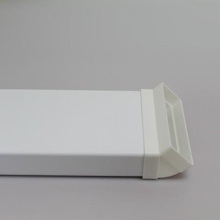 Větrací mřižka do dveří s přírubou 475x 80mm MVM475x80