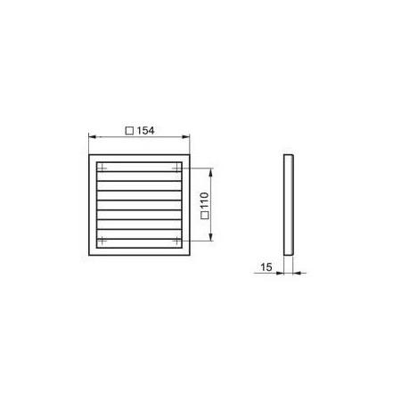 Větrací mřížka do dveří 368x130mm MV350