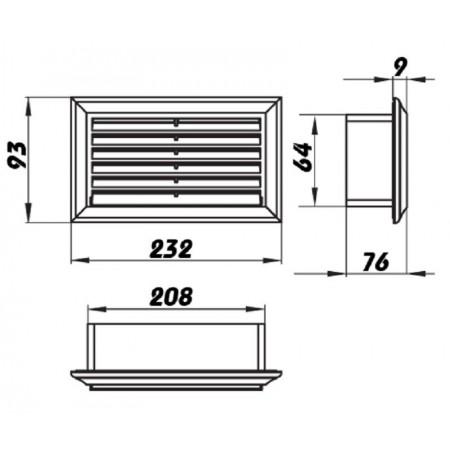 Rozdvojka 230V - 4x zásuvka 2,5A