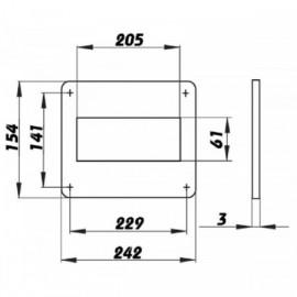 Montážní rámeček pro čtyřhranné potrubí 204x60mm