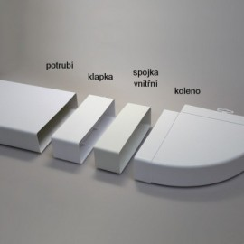 Zpětná klapka PVC pro čtyřhranné potrubí 204 x 60 mm