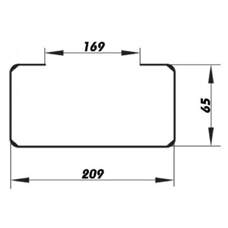 Větrací mřížka se žaluzií GRM 350x350 mm