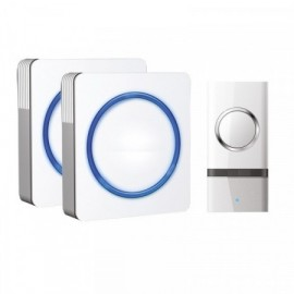 2x bezdrátový zvonek do zásuvky Solight 1L23, 120m, bílý