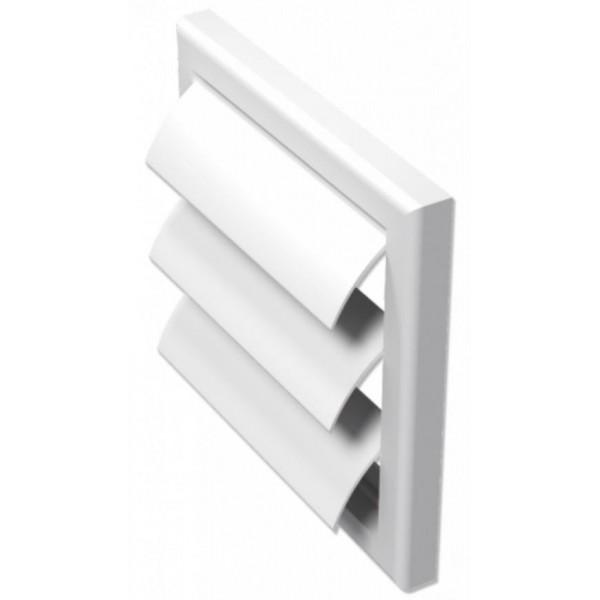 Větrací mřížka se žaluzií 154x154mm bílá