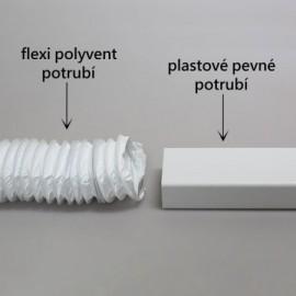 Flexi potrubí plastové čtyřhranné Polyvent -  204x60mm/3m