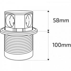 Solight výsuvný blok zásuvek, 3 zásuvky, 2x USB