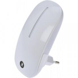 LED noční světlo do zásuvky se senzorem, 1W, bílé