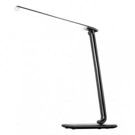 Solight LED stolní lampička stmívatelná, 12W, volba teploty světla, USB, černý lesk
