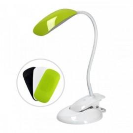 Stmívatelná LED lampička s klipem i podstavcem, 5W, 4000K, 3 barevné kryty