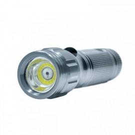LED kapesní svítilna, 3W COB + infra laser, stříbrná, 3xAAA, se šňůrkou