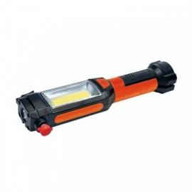 LED ruční svítilna, 3W COB + 1W LED, klip, magnet, flexibilní, 3x AAA