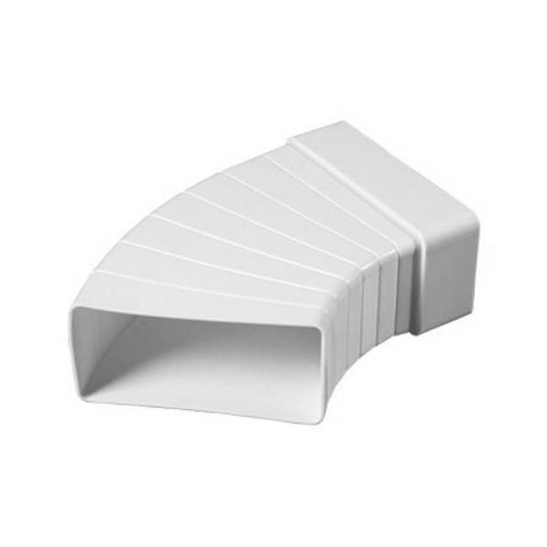Ohyb PVC pro čtyřhranné potrubí nastavitelný 204 x 60 mm
