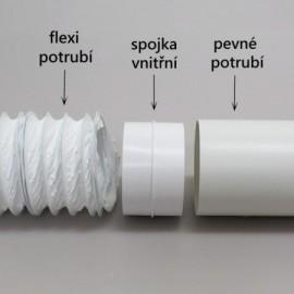 Flexi potrubí plastové kulaté Polyvent - Ø100mm/3m