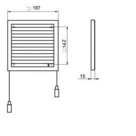 Větrací mřížka s regulací 187x187mm/MV120Rs